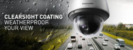 Clearsight coating rainwash coating Công nghệ phủ chuyên dùng ngăn bụi nước bám trên bề mặt camera Panasonic.