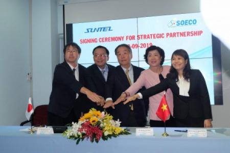 Buổi lễ ký kết hợp tác chiến lược của công ty SOECO và Công ty SunTel Nhật Bản